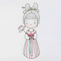 How to Draw a Girl Wearing Chinese Hanfu Step by Step