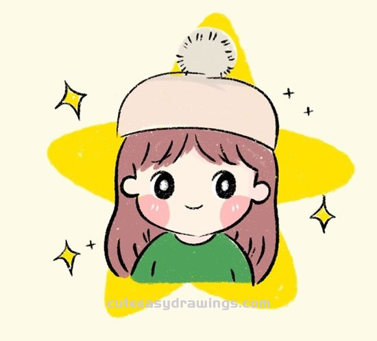 How To Draw A Little Girl Wearing A Hat Step By Step Cute Easy