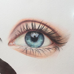 How to Draw an Eye with Colored Pencils Step by Step