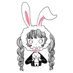 How to Draw a Girl as a Rabbit Step by Step