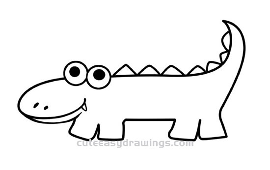 How to Draw a Cartoon Crocodile Step by Step