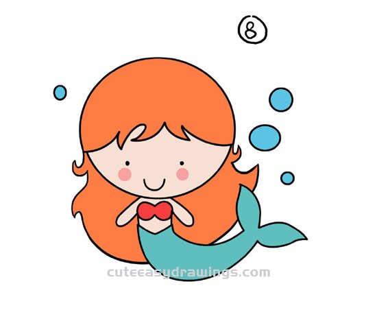 How to Draw a Cartoon Mermaid Step by Step