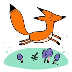 How to Draw a Running Fox Step by Step