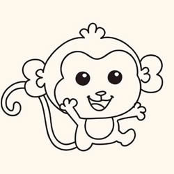 How to Draw a Little Monkey That Wants to Hug Step by Step