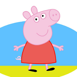How to Draw Colored Peppa Pig Step by Step