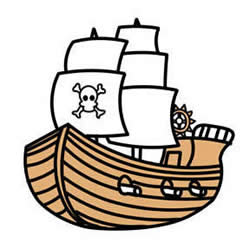 How to Draw a Pirate Ship Step by Step