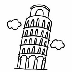 How to Draw the Leaning Tower of Pisa Step by Step