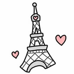 How to Draw the Cartoon Eiffel Tower Step by Step