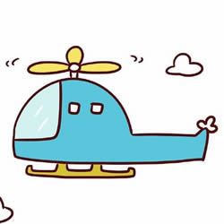 How to Draw a Flying Helicopter Step by Step