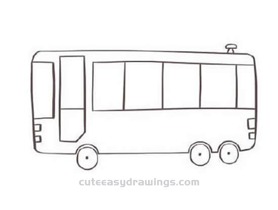 How to Draw a Cute Bus Step by Step