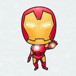How to Draw a Cool Cartoon Iron Man Step by Step