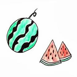 How to Draw a Watermelon Step by Step