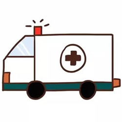How to Draw a Cute Ambulance Step by Step
