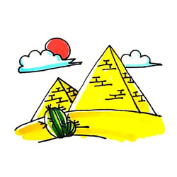 How to Draw Egyptian Pyramids Step by Step