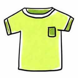 How to Draw a T-shirt with a Pocket Step by Step