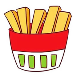 How to Draw French Fries Step by Step