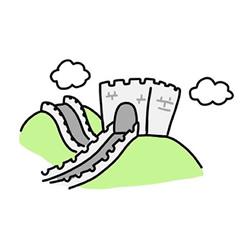 How to Draw the Great Wall of China Step by Step