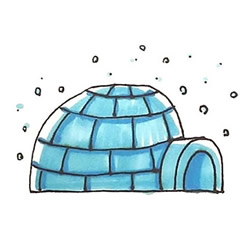 How to Draw a Eskimo Igloo Step by Step