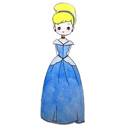 How to Draw Beautiful Cinderella Step by Step