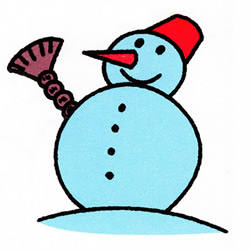 How to Draw a Greeting Snowman Step by Step