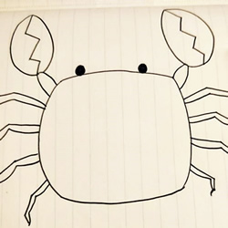 How to Simply Draw a Crab Step by Step