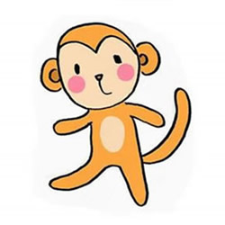 How to Draw a a Standing Little Monkey Step by Step