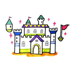 How to Draw a Magical Castle Step by Step