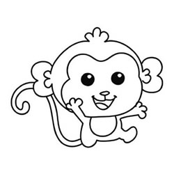 How to Draw a Cute Baby Monkey Step by Step for Beginners