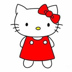 How to Simple Draw a Hello Kitty Step by Step