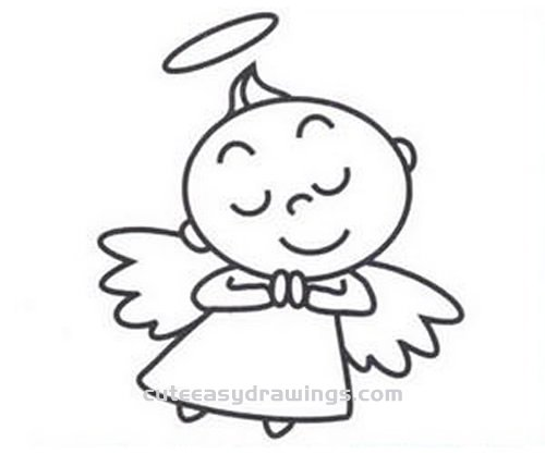 How to Draw a Cute Little Angel Step by Step