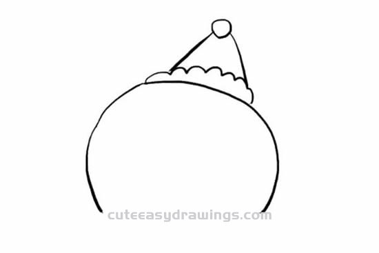 How to Draw a Cute Christmas Snowman Step by Step for Kids