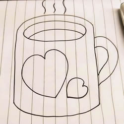 How to Draw a Cute Cup Step by Step
