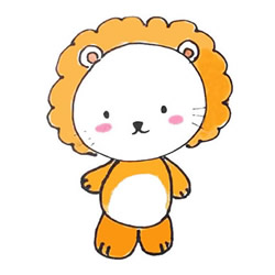 How to Simple Draw a Little Lion Step by Step