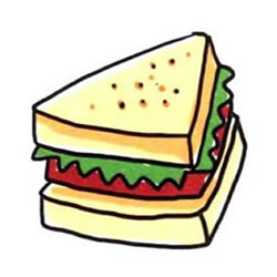 How to Draw a Sandwich Step by Step for Beginners