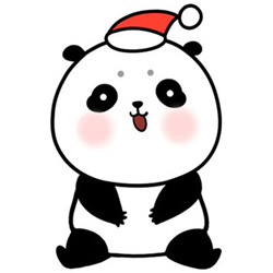 How to Draw a Christmas Panda Baby Step by Step