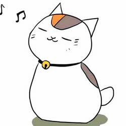 How to Draw a Cat Listening to Music Step by Step