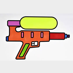 How to Draw a Water Gun Toy Step by Step for Kids