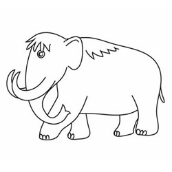 How to Draw a Huge Mammoth Step by Step for Kids