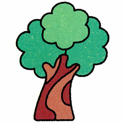 How to Draw a Banyan Tree Step by Step for Kids