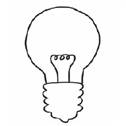 How to Draw a Incandescent Bulb Step by Step for Beginners