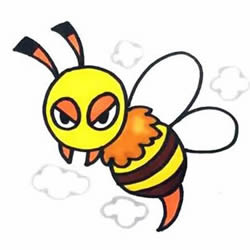How to Draw a Funny Wasp Step by Step for Kids