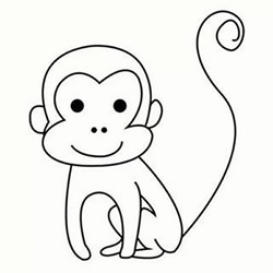 How to Draw a Little Monkey Step by Step for Kids