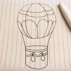 How to Draw a Hot Air Balloon Step by Step for Beginners