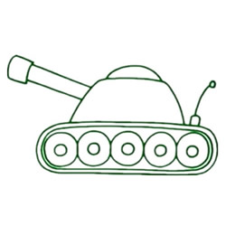 How to Draw a Tank Step by Step for Kids