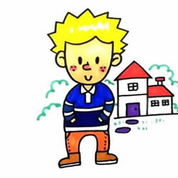How to Draw a Little Blond Boy Step by Step for Kids