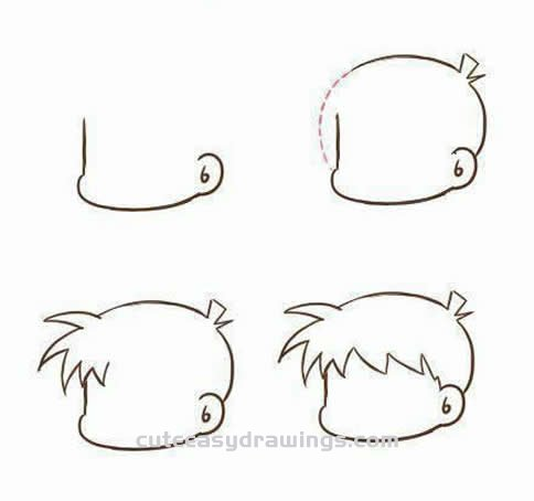 How to Draw the Detective Conan Step by Step for Beginners