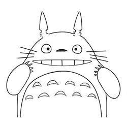 How to Draw a Cartoon Totoro Step by Step for Kids