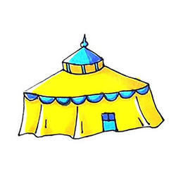 How to Draw a Yurt Step by Step for Kids