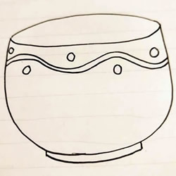 How to Simple Draw a Bowl Step by Step for Beginners