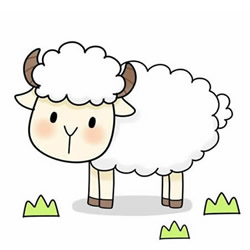 How to Draw a Grazing Sheep Step by Step for Kids